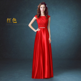 Harga Merah Baru Perjamuan Gaun Malam Baju Pelayanan Merah Baru