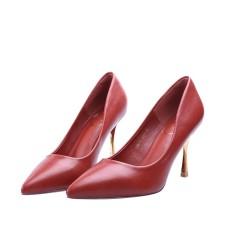 Merah Bata Pointed untuk OL Profesional Sepatu Tumit (Bata Merah)