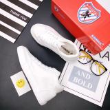 Beli Sepatu Kanvas Musim Semi Dan Musim Panas Pergelangan Kaki Tinggi Sepatu Santai Merah Tua Perempuan Putih Yang Bagus