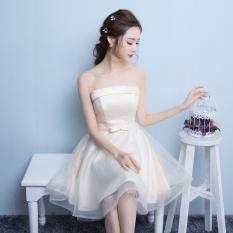 Jual Merah Muda Musim Semi Baru Pengiring Pengantin Rok Sister Kembaran Busana Pendamping Pengantin Warna Kuning Muda Model D Online Di Tiongkok