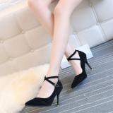Toko Merah Muda Wanita Yang Bermoral Hak Tipis Menunjuk Sepatu Stagen Bertumit Tinggi Sepatu Hitam Sepatu Wanita High Heels Sepatu Wanita Wedges Other Di Tiongkok