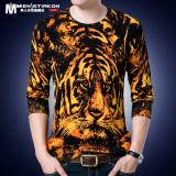 Jual T Shirt Rajutan Musim Semi Dan Musim Gugur Baju Kaos Setengah Baya Dicetak Harimau 5801 Termurah