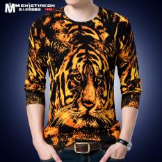 T Shirt Rajutan Musim Semi Dan Musim Gugur Baju Kaos Setengah Baya Dicetak Harimau 5801 Di Indonesia