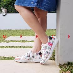 Top 10 Merce Sepatu Kets Wanita Candy Sneakers Shoes Putih Online