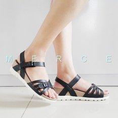 Merce - Sandal Sendal Wanita Platform BALI - Hitam