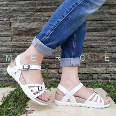Merce - Sandal Sendal Wanita Platform BALI - Putih