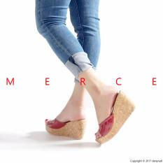Merce - Sepatu Sandal Wanita JESSIE Wedges - Merah