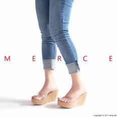 Jual Beli Merce Sepatu Sandal Wanita Jessie Wedges Transparent