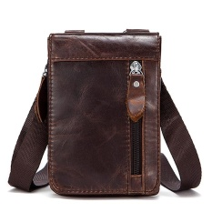 Mes Genuine Leather Leisure Small Satchel Bag Funny Waist Pack For Men Coffee Intl Asli