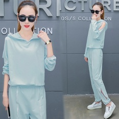 Mestery Chic Shishang Female New Style High-Waisted Suit (Light Blue) - intl