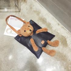 Beli Mewah Beruang Kecil Tas Tangan Korea Fashion Style Tas Wanita Hitam Lengkap