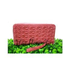 Meyliem Jaya Dompet Rajut Rit Kecil - Baby Pink