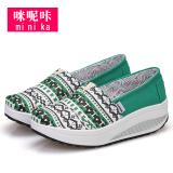 Jual Mi Itu Retak Korea Fashion Style Bernapas Sepatu Goyang 9001 17 Hijau Sepatu Wanita Flat Shoes Minika