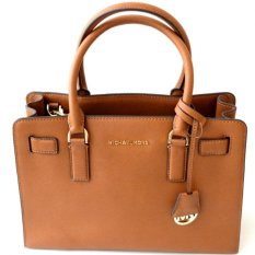 Iklan Michael Kors Dillon Medium Saffiano Leather Satchel Luggage Cokelat