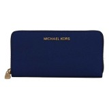 Review Toko Michael Kors Jet Set Continental Saffiano Wallet Navy Online