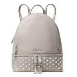 Jual Beli Michael Kors Tas Wanita Rhea Medium Studded Leather Backpack Pearl Gray