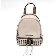 Harga Michael Kors Rhea Studded Extra Small Messenger Backpack Cement Terbaik
