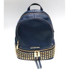 Michael Kors Rhea Studded Medium Backpack (Navy)