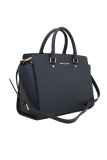 Beli Michael Kors Selma Large Saffiano Leather Satchel Navy Michael Kors Asli