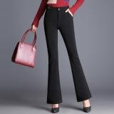 Jual Micro Flare Pants Wanita Tinggi Pinggang Work Wear Stretch Trousers Plus Ukuran Women Casual Slim Ol Profesional Celana Warna Hitam Intl Baru