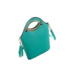 Ukuran Tengah Bergigi Fashion Mini Tangan Daftar Muatan Bahu Wanita Tas Kecil (Hijau)-Intl