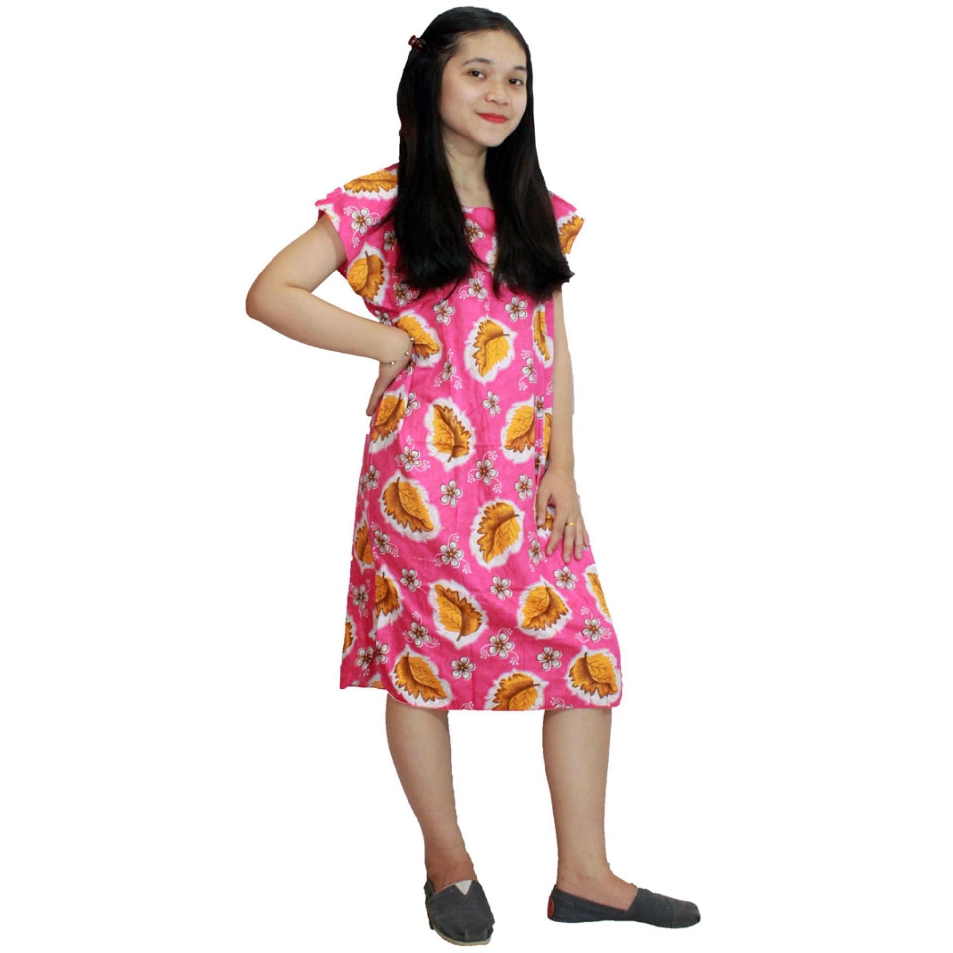 Murah Longdres Batik Daster Lengan Panjang Baju Tidur Longdress Midi Dress Santai Piyama Atasan