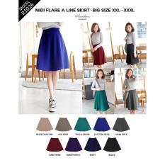 Mesh Flare Skirt Rok A-Line Wanita Wedges Lotto RK134   Shopee Indonesia -.