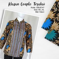 Mila Style - Baju Batik Sarimbit Blus Batik Katun Kembang Teratai - Multicolor