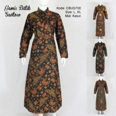 Mila Style - Baju Gamis Batik Klasik Santoso CBUG700 - Multicolor
