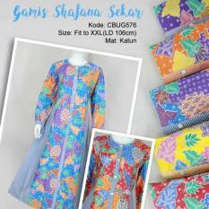 Mila Style - Baju Gamis Batik Sekar CBUG576 - Multicolor