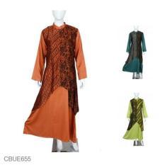 Mila Style - Baju Gamis Pesta Batik Sutra CBUE655 - Multicolor