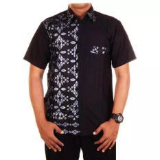 Jual Mila Style Baju Kemeja Batik Varian Hem Khalid Hitam Mila Style Online