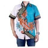 Diskon Besarmila Style Baju Kemeja Batik Varian Hem Riyan Biru Muda