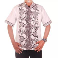 Jual Mila Style Baju Kemeja Batik Varian Hem Sabrina Putih Antik