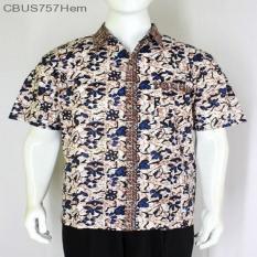 Mila Style - Baju / Kemeja / Hem Kemaja Batik Pria Motif Waluyo Bigsize CBUS757 - Multicolor