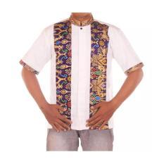 Mila Style Baju Kemeja Koko Batik Varian Prodo Rompi Qaisar - Multicolor