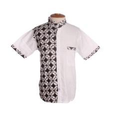 Mila Style Baju Koko Anak Batik Varian Lukman - Putih