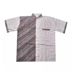Mila Style Baju Koko Batik Super Jumbo Varian Lukman Edisi 03 - Putih