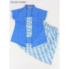 Mila Style - Baju Setelan Kebaya Anak Pendek Motif Par4ng CBUM1446 - Multicolor