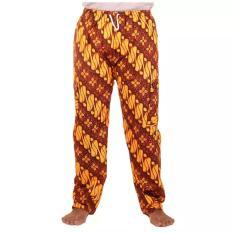 Harga Mila Style Celana Panjang Batik Betawi Pasangan Koko Edisi 02 Cokelat Mila Style
