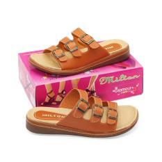 Jual Milton Sandal Sepatu Flat Wanita Msl 03 Tan Size 36 40 Milton Online