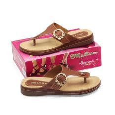 Harga Milton Sandal Sepatu Flat Wanita Msl 04 Mocca Size 36 40 Yang Murah Dan Bagus