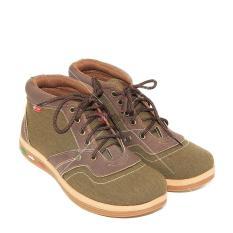 Milton Sepatu Sneakers Boot Pria Margo 02 - Cokelat