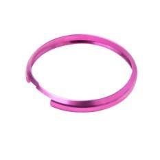 Mini Aluminum Alloy Key rings cooper Key Ring Trinket Key Rings Purple - intl