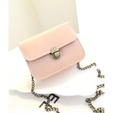 Harga Hemat Mini Bag Shoulder Oblique Turn Tren Perubahan Handbags Baru Retro Paket Rantai Pink