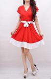 Harga Termurah Mini Dress Polka Red
