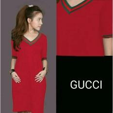 Beli Lf Mini Dress Wanita Gisella Atasan Kaos Terusan Blouse Santai Gucol Kaos T Shirt Wanita Nr Merah D2C Terbaru