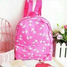Mini Ransel Backpacks Anchor Pink – Tas Ransel Sling Bag Tas Slempang Tas Sekolah Tas kuliah