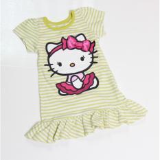 Spesifikasi Minidress Stripe G*Rl Hijau Murah