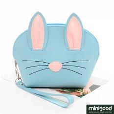 minigood NEW PRODUCT cosmetic bag pouch make up bedak lipstik mascara model kelinci tali pendek